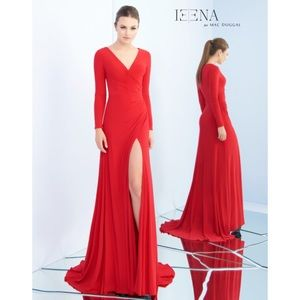 NWT Ieena for Mac Duggal Deep Red Dress